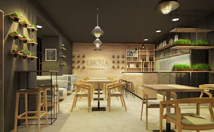 CAFE OKNA: Бары и клубы в . Автор – Zikzak Design Studio