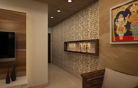 Residential Interiors:  Corridor & hallway by Prism Architects & Interior Designers