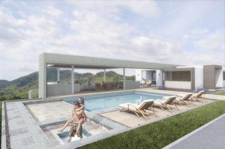 Zona húmeda: Piscinas de estilo minimalista por Ar4 Arquitectos