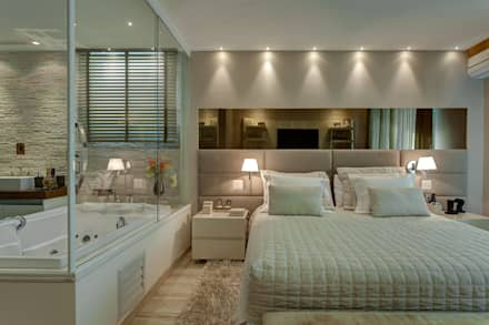 Suíte casal: Quartos  por Isabella Magalhães Arquitetura & Interiores