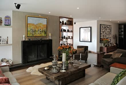 Detalle Chimenea: Salas de estilo moderno por KDF Arquitectura