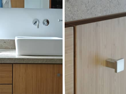 Detalle Baños: Baños de estilo moderno por KDF Arquitectura