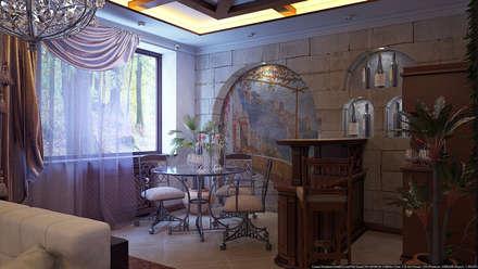 Зал средиземноморский стиль: Tерраса в . Автор – Architoria 3D