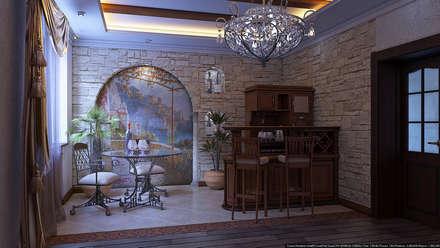 Зал средиземноморский стиль: Столовые комнаты в . Автор – Architoria 3D