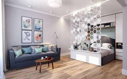 scandinavian Living room by CO:interior