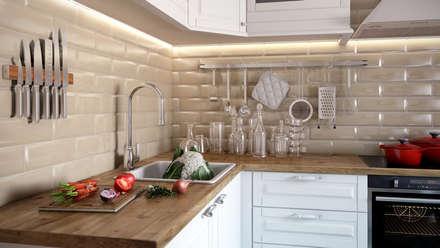 Медовая геометрия_кухня в современном стиле: Кухни в . Автор – CO:interior