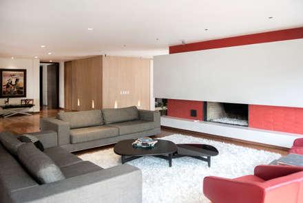 Sala: Salas de estilo moderno por KDF Arquitectura