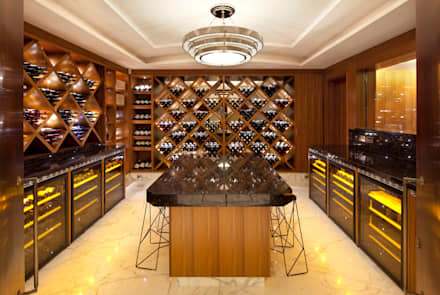 KSR Architects | Two Houses | Wine cellar: classic Wine cellar by KSR Architects
