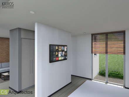 Kairos Apartaestudios: Habitaciones de estilo minimalista por CS Arquitectos