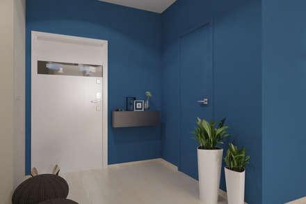 Дизайн-проект трехкомнатной квартиры для молодой семейной пары. : Коридор и прихожая в . Автор – Катя Волкова
