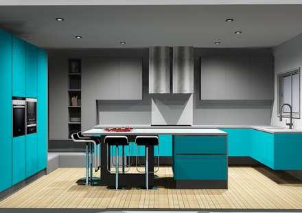 Cozinhas | Roupeiros | Moveis de banho: Cozinhas modernas por Amplitude - Mobiliário lda