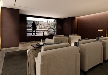 5&6 Connaught Place, Hyde Park, London. : classic Media room by Flairlight Designs Ltd