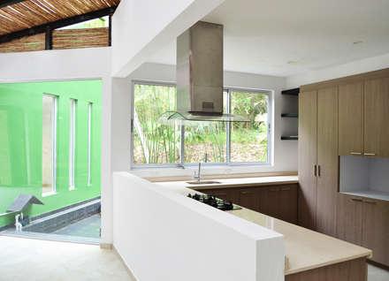 CASA DEL BOSQUE: Cocinas de estilo minimalista por santiago dussan architecture & Interior design