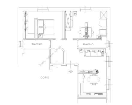 75 mq per 4!: Soggiorno in stile in stile Moderno di ARCHITETTO LAURA LISBO