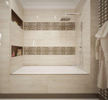 """Ванная комната """"Gentle tone"""": Ванные комнаты в . Автор – Студия дизайна Дарьи Одарюк"""