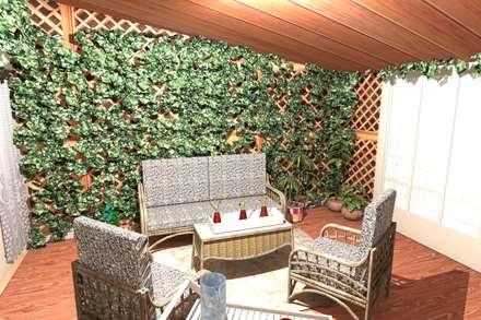 Bari -Corso Cavour-: Giardino d'inverno in stile in stile Classico di Noemy Caldarulo