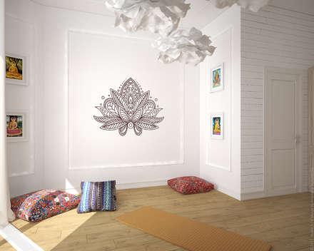 Комната для йоги. Лофт по-восточному: Тренажерные комнаты в . Автор – «Студия 3.14»