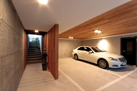 Garages de estilo moderno por THE JK