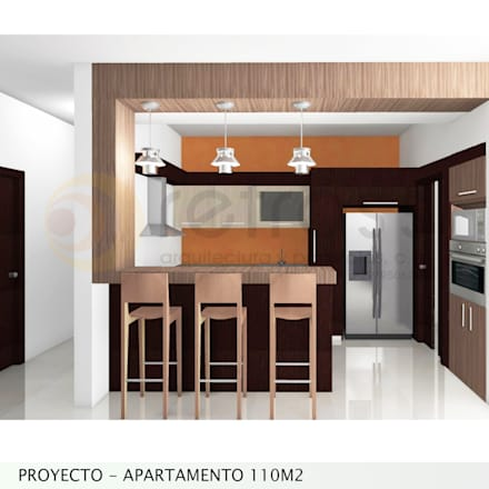 Imagen Objetivo Cocina: Cocinas de estilo minimalista por retross arquitectura y proyectos