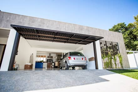 modern Garage/shed by Roma Arquitetura