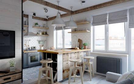 Кухня в скандинавском стиле: Кухни в . Автор – Elena Arsentyeva