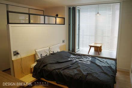 32평 초원대림아파트 리모델링 : 디자인브리드의  침실