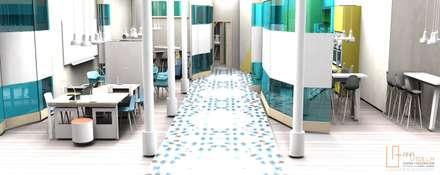 Oficinas espacio coworking: Edificios de oficinas de estilo  de ANA UTRILLA | DISEÑO DE INTERIORES