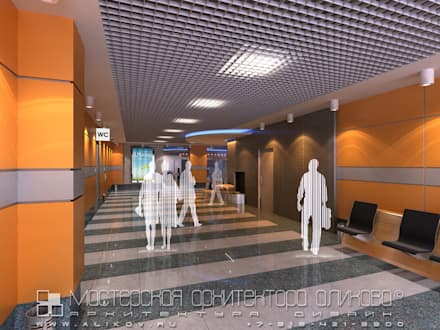 интерьер аэропорта во Владикавказе: Аэропорты и морские порты в . Автор – Мастерская архитектора Аликова