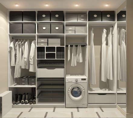Дизайн-проект квартиры в ЖК Москва А101: Гардеробные в . Автор – Aledoconcept