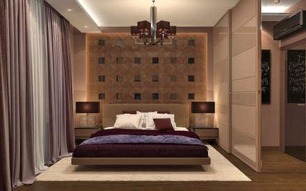 Дизайн-проект квартиры в ЖК Москва А101: Спальни в . Автор – Aledoconcept