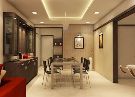 Apartment at Ajmera Infinity: modern Dining room by ACE INTERIORS
