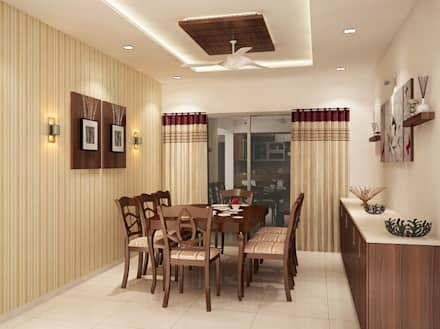 4 Bedroom Apartment At SJR Watermark Modern Dining Room By ACE INTERIORS