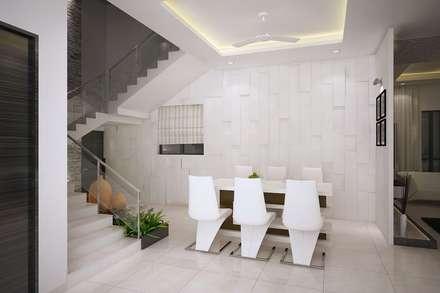 4 bedroom Villa at Prestige Glenwood: modern Dining room by ACE INTERIORS