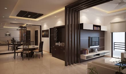 Awesome Apartment At Adarsh Palm Retreat: Modern Living Room By ACE INTERIORS