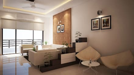 Apartment at Adarsh Palm Retreat: modern Living room by ACE INTERIORS