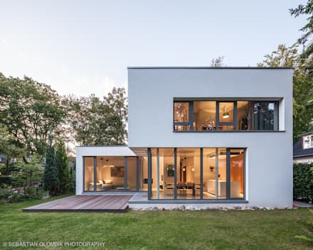 Moderne h user architektur design ideen bilder homify for Zweifamilienhaus bauhausstil