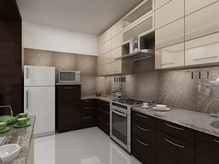 Apartment on Sarjapur Road: modern Kitchen by ACE INTERIORS