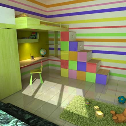 Apartment at Bannerghatta Road: modern Nursery/kid's room by ACE INTERIORS