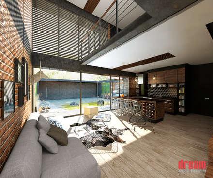 Sala -Comedor- Cocina: Cocinas de estilo ecléctico por Dream Arquitectura & Diseño
