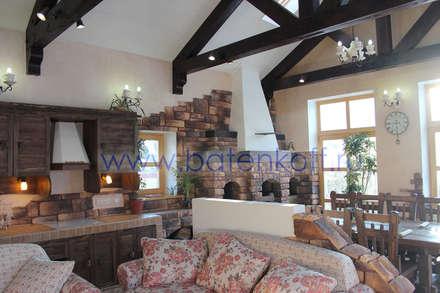 Фото Дизайн проект гостевого дома в стиле шале от Батенькофф: Спа в . Автор – Дизайн студия 'Дизайнер интерьера № 1'