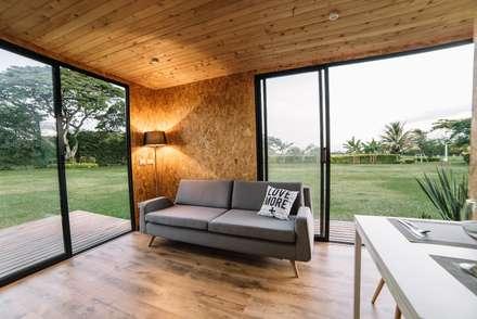 VIMOB: Salas de estilo moderno por COLECTIVO CREATIVO
