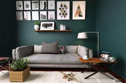 : Livings de estilo moderno por marianamoraldiseño