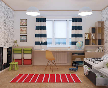 scandinavian Nursery/kid's room by Alyona Musina