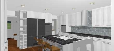 : Cocinas de estilo escandinavo por A3D-Projection S.A.S.