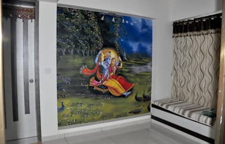Spiritual Graphics:  Walls by BION Creations Pvt. Ltd.