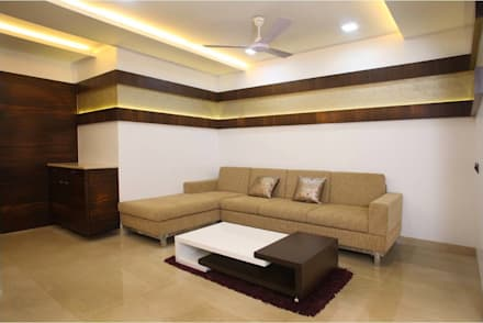 Pali Hill, Bandra: modern Living room by suneil