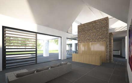 Villa JSPE: minimalistische Spa door 2architecten