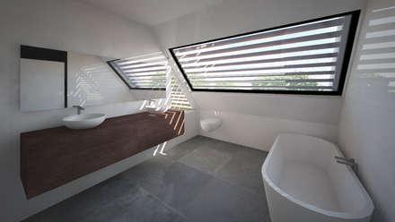Woonhuis APOR Mierlo : moderne Slaapkamer door 2architecten