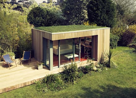 Estudios cubierta plana 1: Casas de estilo moderno de ecospace españa