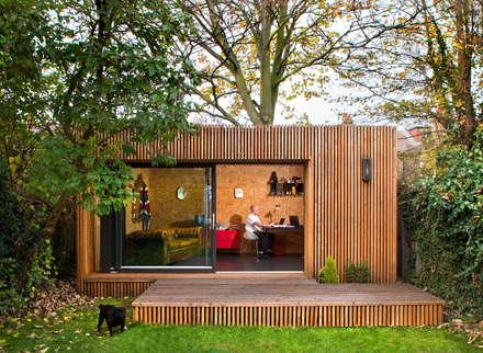 Estudios de cubierta plana 4: Casas de estilo moderno de ecospace españa
